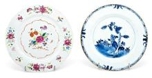 Two Chinese porcelain plates, East India Company, 18th Century