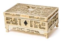 Chinese Canton fretted ivory box, 19th century