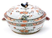 Sopera china en porcelana, de finales del siglo XIX