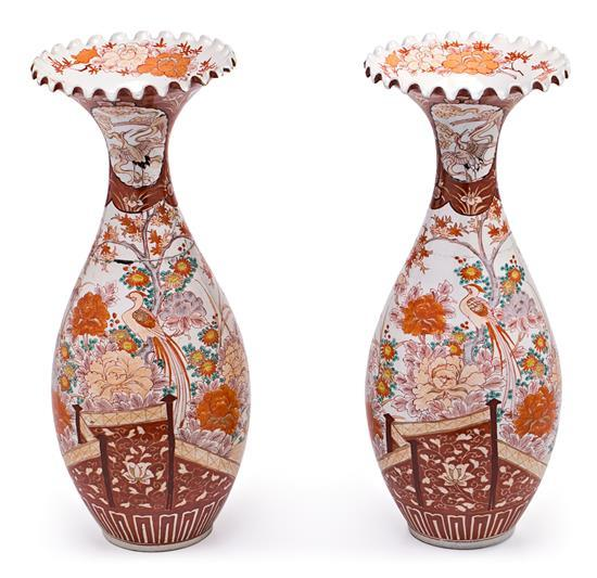 Pair of Japanese porcelain vases, early 20th Century