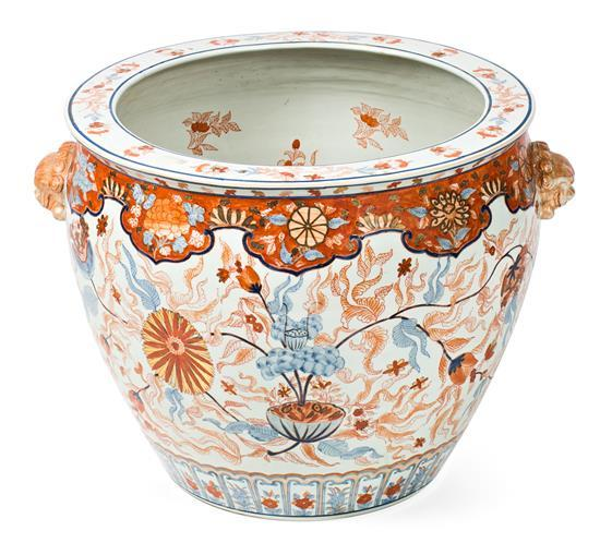 Japanese porcelain jardinière, early 20th Century