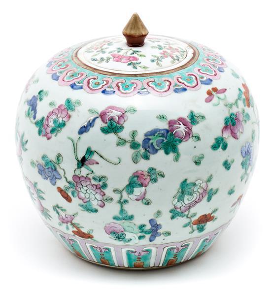 Tibor chino en porcelana, de principios del siglo XX