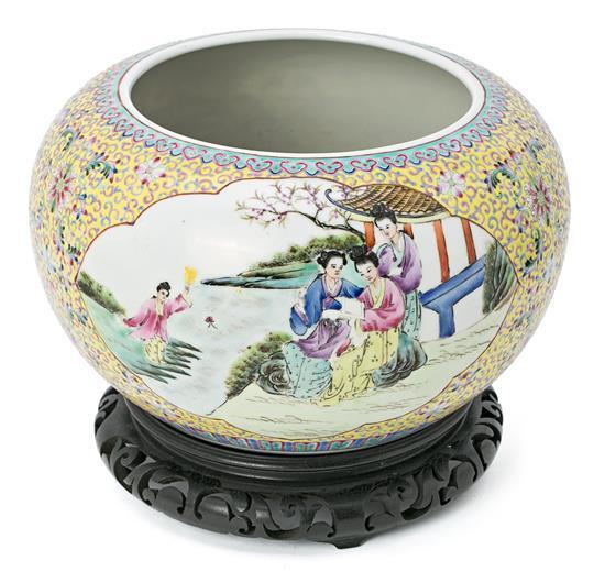 Cuenco chino en porcelana, del siglo XX