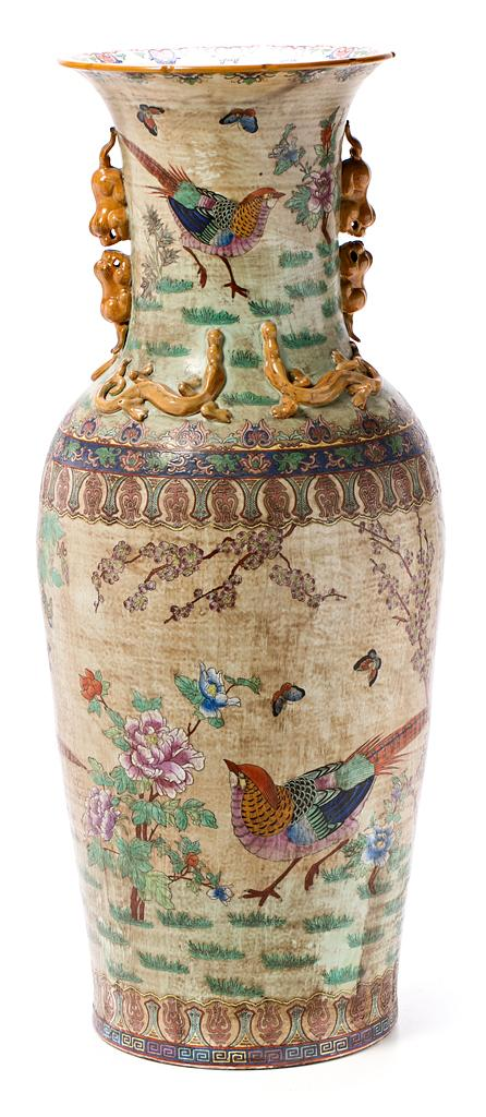 Chinese Canton porcelain vase, mid 20th Century