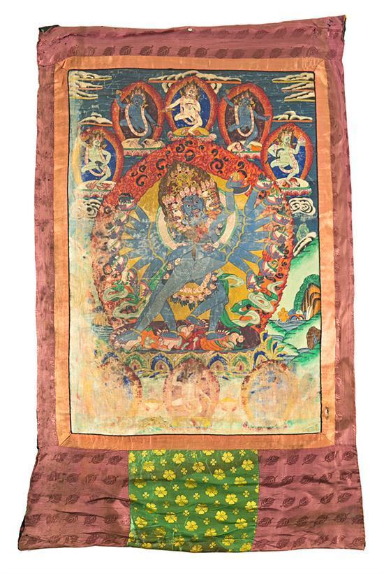 Tibetan school, early 20th Century Deities