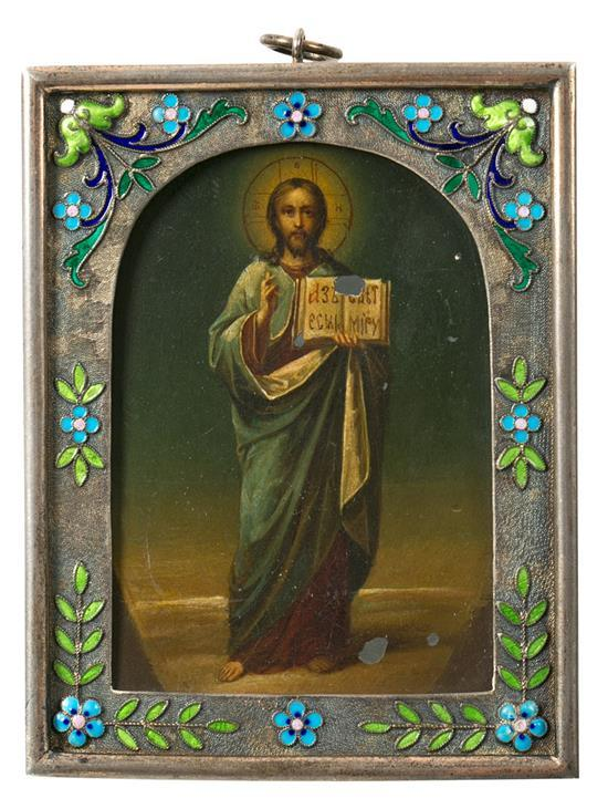 Russian school, early 20th century  Christ blessing