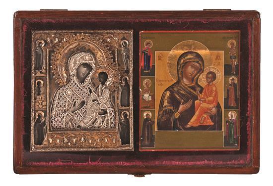 Escuela rusa del siglo XIX Virgen con el Niño