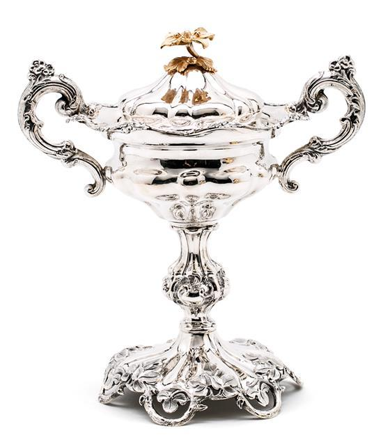 Russian ornamental cup in partially