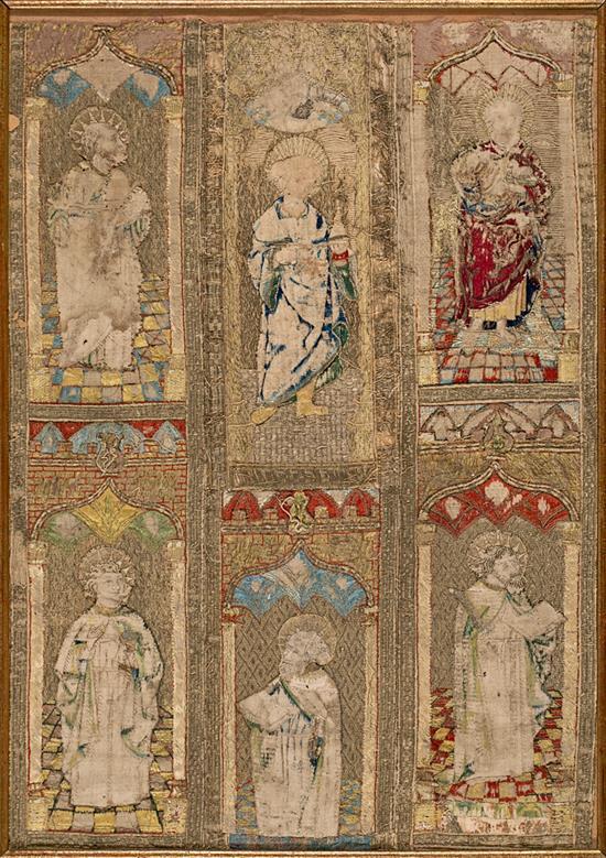 Tejidos bordados renacentistas españoles en seda y oro, del siglo XVI
