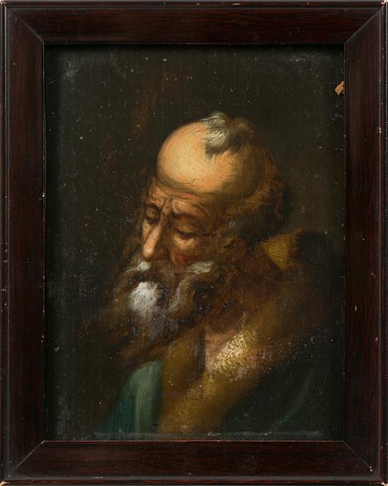 Escuela flamenca del siglo XVII Anciano Retrato