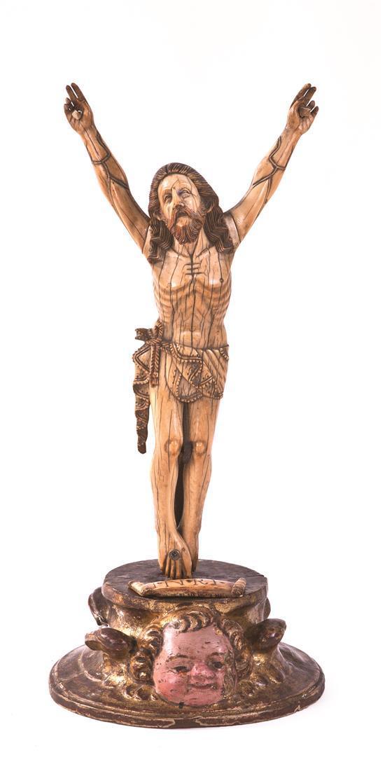 Sri Lankan-Portuguese school of the 17th Century  Christ on the Cross