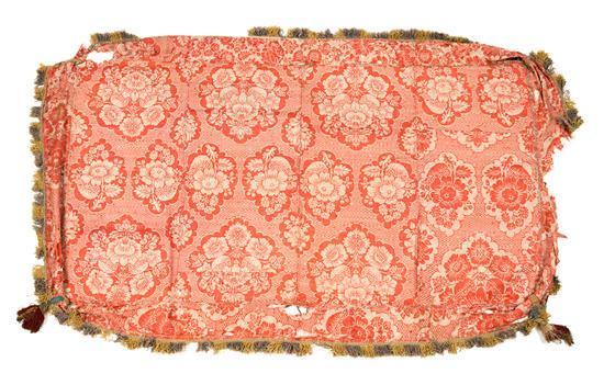 Cubrepalio español en algodón tramado bicolor, de finales del siglo XVII-primer tercio del siglo XVIII