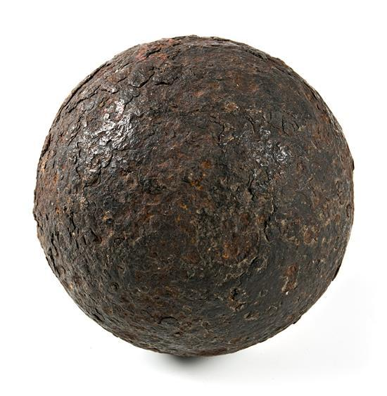 Iron cannonball, 18th Century