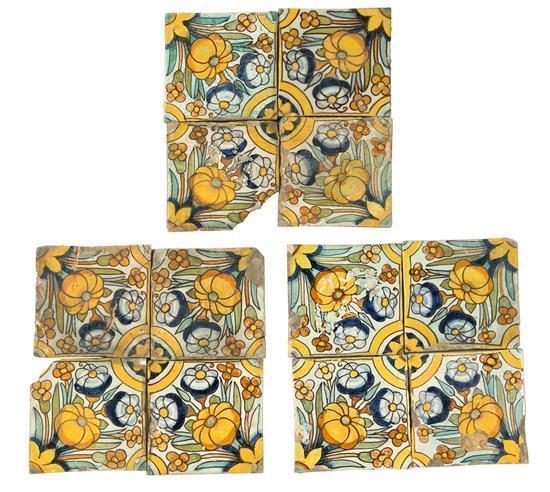 Juego de doce azulejos catalanes