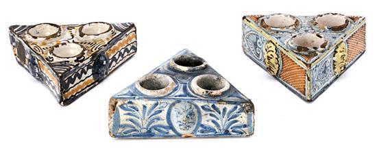 Three ceramic spice racks from Talavera, 18th CenturyR