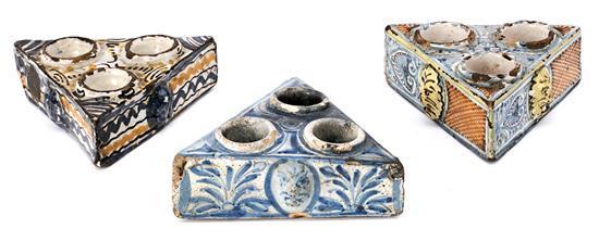 Three ceramic spice racks from Talavera, 18th CenturyR