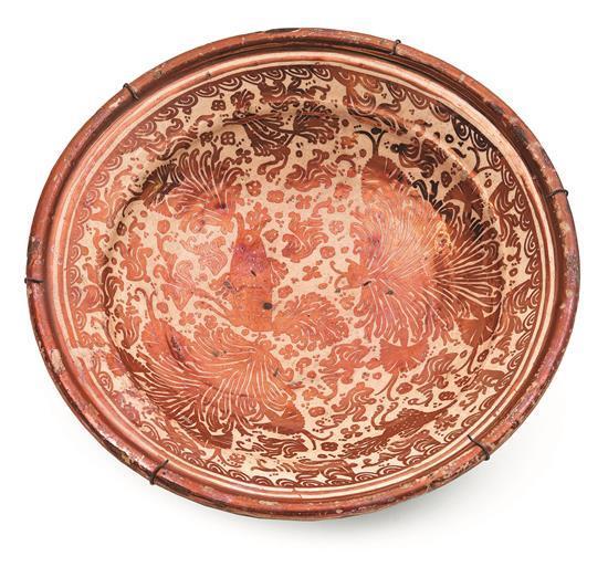 Plate in Manises metallic lustreware