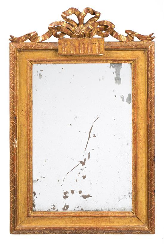 Charles IV mirror with frame in carved and gilded wood, circa 1800