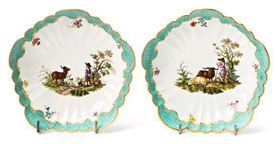 Pair of German serving dishes in