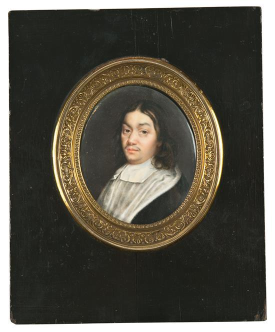 French School early 19th century Ecclesiastic Gouache portrait miniature