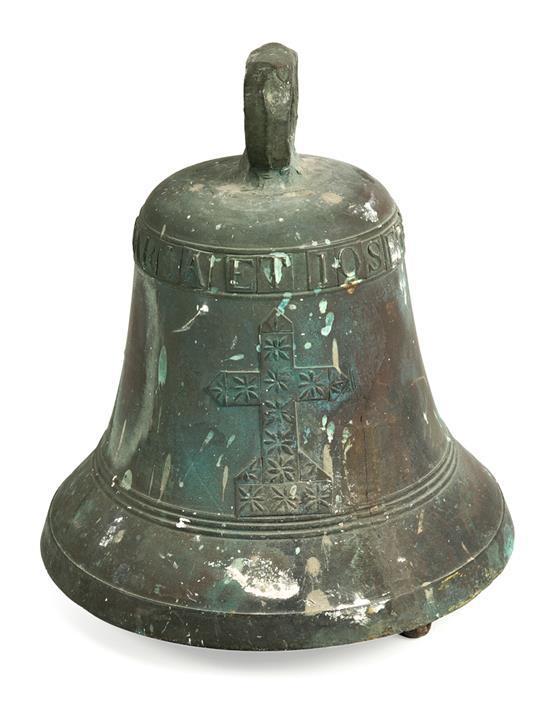 Campana española en bronce, del siglo XIX