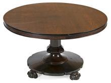 Mesa de centro o comedor isabelina de estilo inglés en caoba, hacia 1860