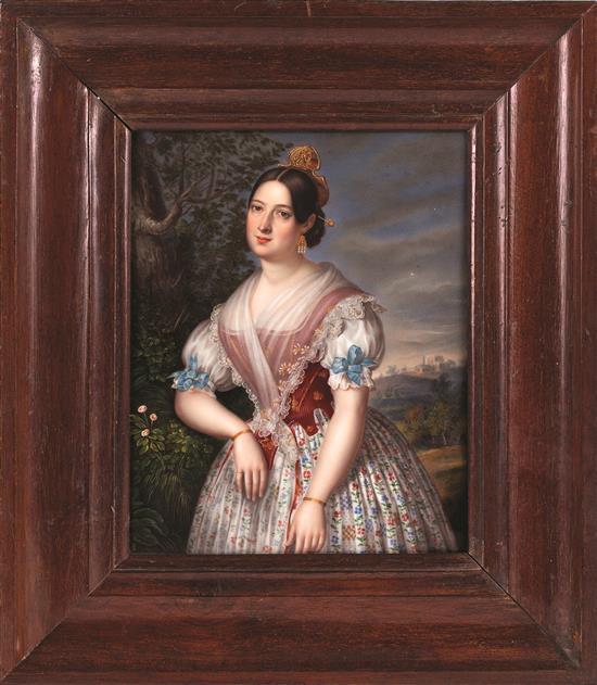 Justin Liénard Francia, activa circa 1842 - después de 1860 A young woman dressed in Valencian costume