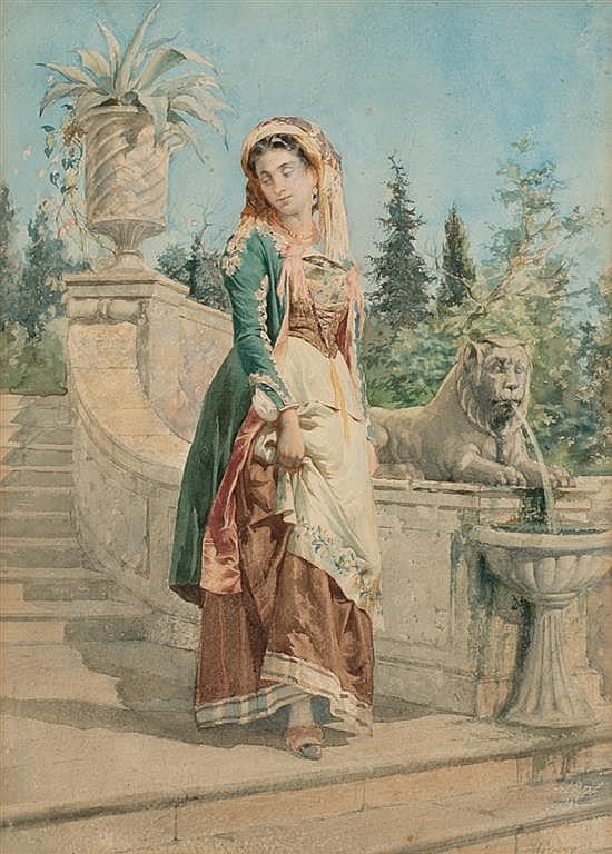 Tomás Moragas Girona 1837 - Barcelona 1906 A young Italian woman