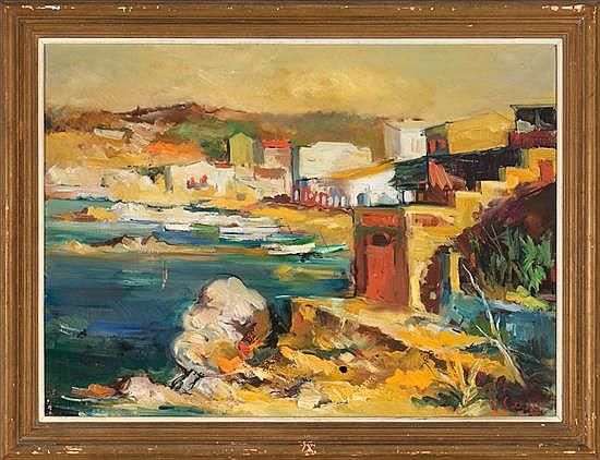 Joan Serra Melgosa Lleida 1899 - Barcelona 1970 Coastal view, probably Calella de Palafrugell