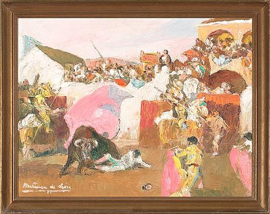 Andrés Martínez de León Coria del Río 1895 - Madrid 1978 Bullfighting scenes