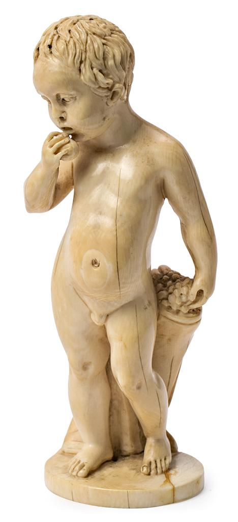 French school of Dieppe, 19th century  The infant Bacchus