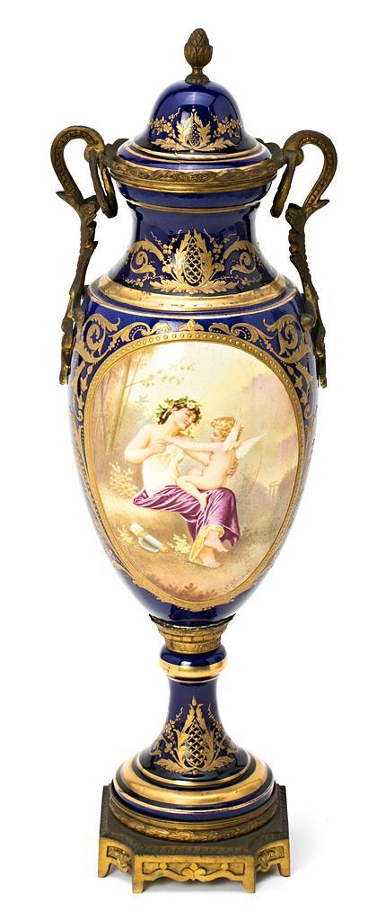 Jarrón francés en porcelana