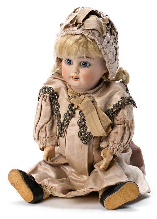 French doll in Jumeau porcelain, last quarter of the 19th century