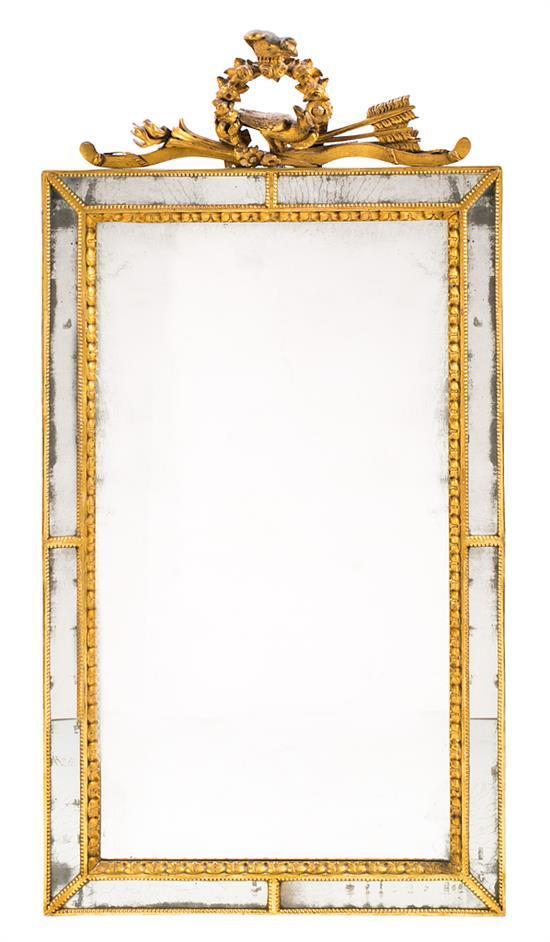 Espejo con marco de espejos estilo Luis XVI, del siglo XIX
