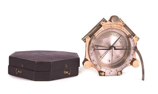 Carl Josef Rospini Activo en Viena en el segundo tercio del siglo XIX Reloj solar Bronce, latón y cristal