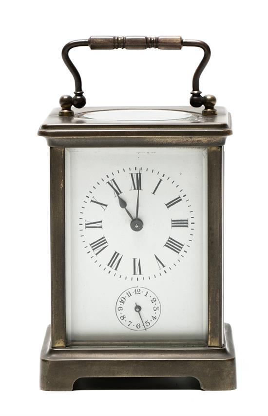 Reloj despertador de viaje, de principios del siglo XX