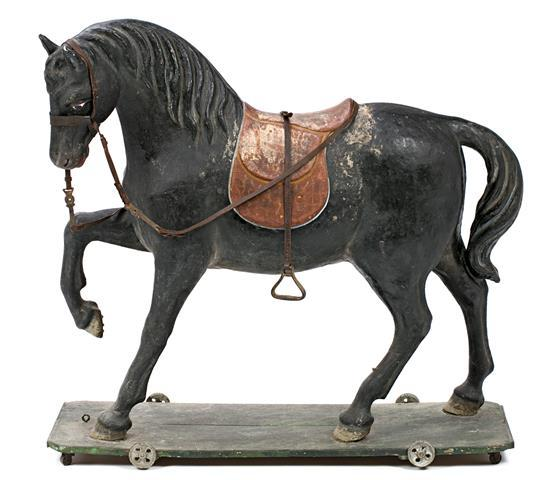 Spanish toy horse in painted papier maché, circa 1925