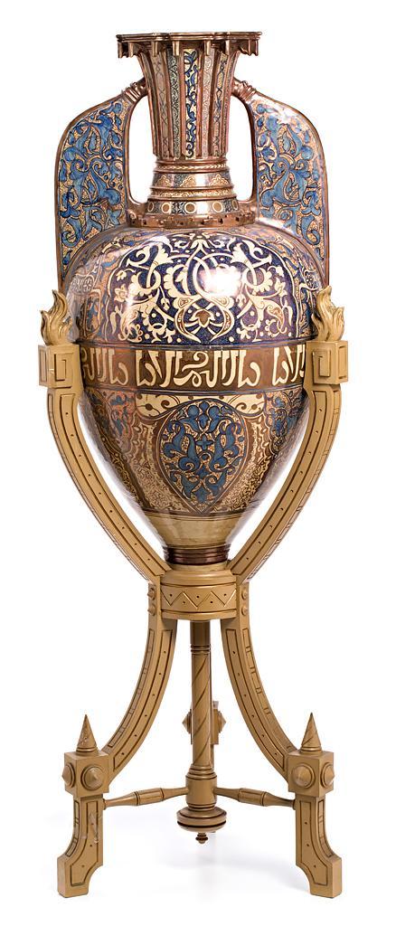 Large Nazarite-style vase in Manises metallic lustreware, late 19th century