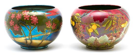 Zsolnay factory Two vases