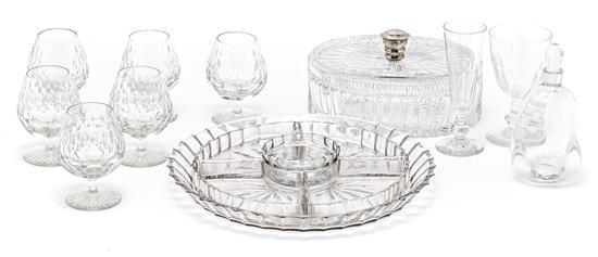 Diversas piezas en cristal europeo, de la primera mitad del siglo XX