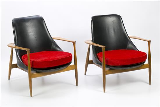Ib Koford Larsen Dinamarca 1921 - 2003 Pair of armchairs