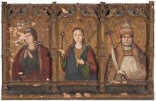 Juan Ximénez Documentado en Aragón a finales del siglo XV Saint John the Evangelist, Saint Apollonia and Saint Gregory