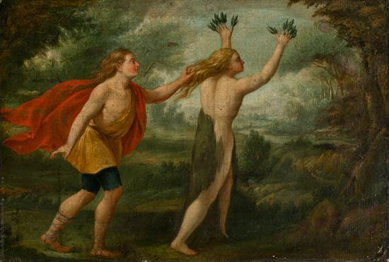 Spanish or Italian School, 17th Century Apollo and Daphne