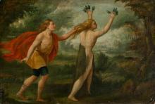 Spanish or Italian School, 17th Century  Apollo and Daphne