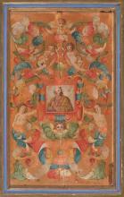 Escuela española de la segunda mitad del siglo XVI San Pedro Óleo y pan de oro sobre tabla