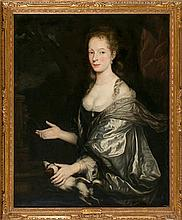Atribuido a Caspar Netscher Heidelberg 1639 - La Haya 1684 Retrato de una joven Óleo sobre lienzo