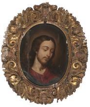 Italian School, 17th Century. Follower of G.B. Salvi, Il Sassoferrato  Christ and The Virgin Mary