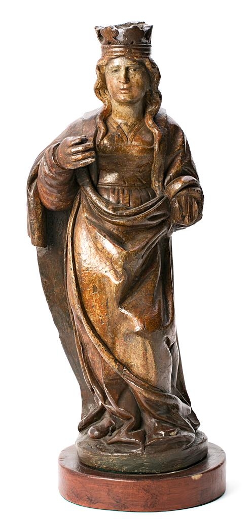 Spanish School, second third of the 16th Century Saint, probably Saint Catherine of Alexandria