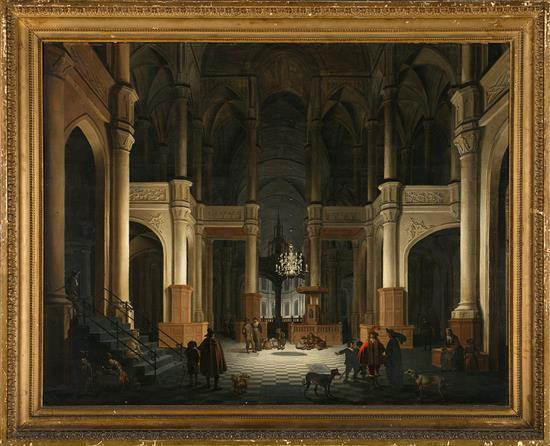 Daniel de Blieck Middelburg h. 1610 - 1673 Interior of a Church