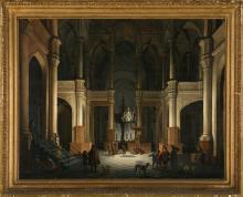 Daniel de Blieck Middelburg h. 1610 - 1673 Interior of a Church